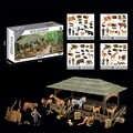 Simulation animaux figurines Playset Mini Jungle animaux jouets ensemble animaux sauvages Statues bricolage ferme maison jeu ensemble enfants mains sur jouet