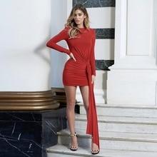 JSMY 2019 New Summer Fashion Women Sexy Slim Backless Long Sleeve Dress