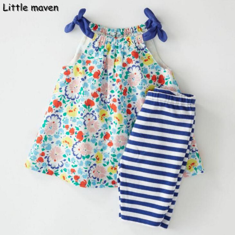 Little maven brand 2017 new summer baby girls clothes cotton tank tops+leggings dot print children's sleeveless sets 20119 little maven kids brand clothes 2017 new autumn baby girls clothes cotton bird printing girl a line pocket dress d063