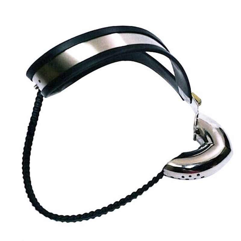stainless steel Y type male chastity belt fetish bdsm bondage Silicoliner cock cage erotic toys sex games adult sex toys for men