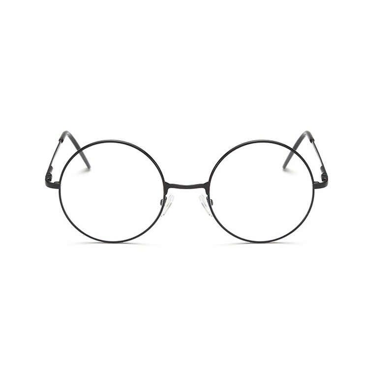 Очки GLAUSA в стиле ретро, круглые очки для близорукости, для женщин и мужчин, металлические прозрачные линзы, Короткие очки для коррекции зрения, очки с углом обзора-1,0-1,5-2,0-2,5-3,0-3,5-4,0
