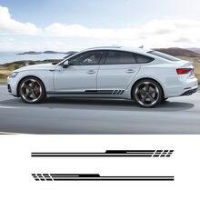 2 шт виниловые боковые полосы юбка графика автомобиля Наклейка