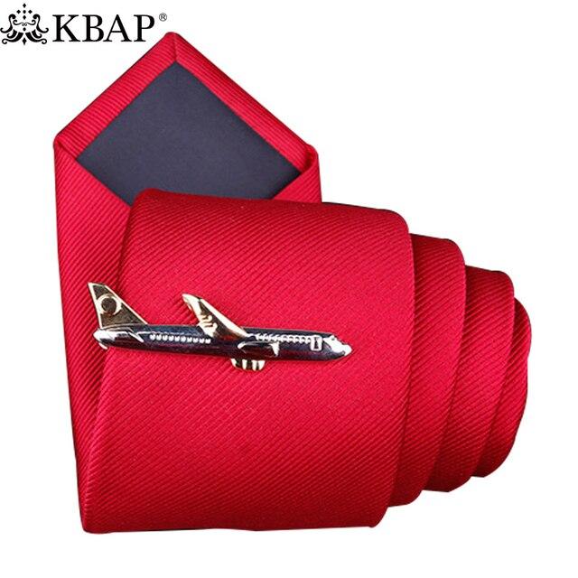 Avion De Cou de Conception Pince à Cravate En Métal Pour Hommes Cravate Cravate Fermoir Broches Cravate Pince Daffaires De Mariage Faveur Cadeaux Argent Or