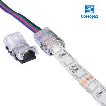 10pcs/lot LED Strip Connector 4pin 10mm RGB 5A Waterproof Color 5050 Strips Wire Connection Terminals