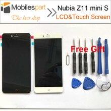 Для ZTE Нубия Z11 мини S ЖК-дисплей Экран Высокое качество замена ЖК-дисплей Дисплей + Сенсорный экран для ZTE Нубия Z11 мини S 5.2 дюймов телефон