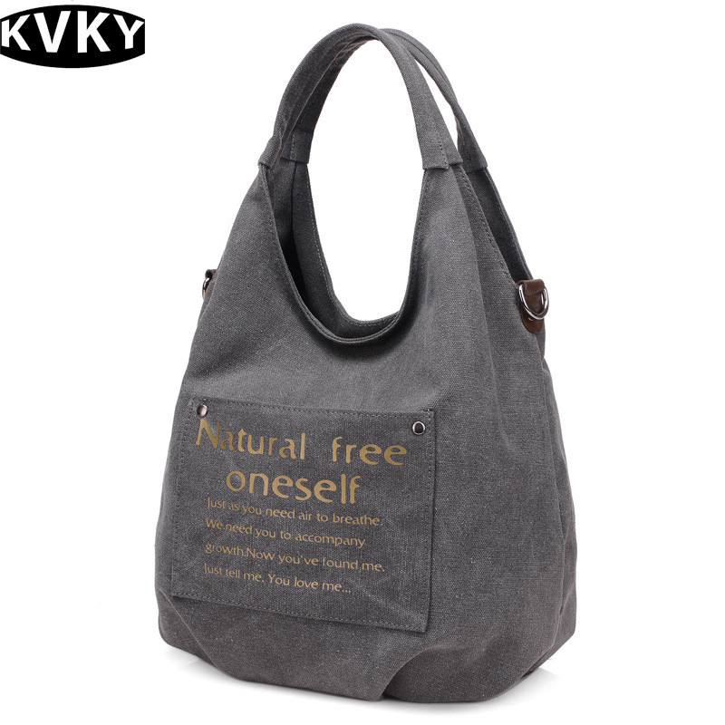 Designer Women's Bag Vintage Canvas Handbags Ladies Messenger Shoulder Bags Tote Travel Bags