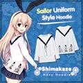 Moeyu Anime Kantai Collection Shimakaze Maid Student Sailor Uniform Cosplay Costume Autumn Women Cotton Suit