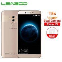 LEAGOO T8s 5,5 ''FHD Incell экран мобильный телефон Android 8,1 MTK6750T Восьмиядерный 4 ГБ 32 ГБ 13 МП Двойная камера Face ID 4G смартфон