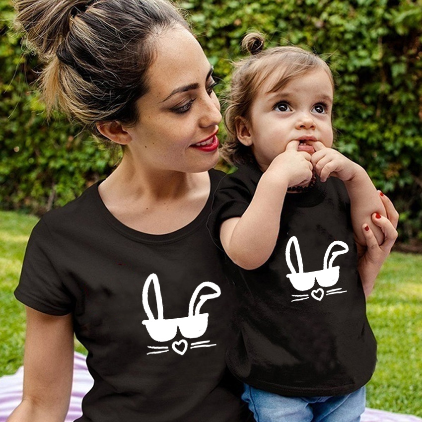 2019 New Mother Toddler Baby Kids Girls Boys Family Matching Outfits T Shirt Tops Clothes Cute Casual Summer T-shirts Blouse