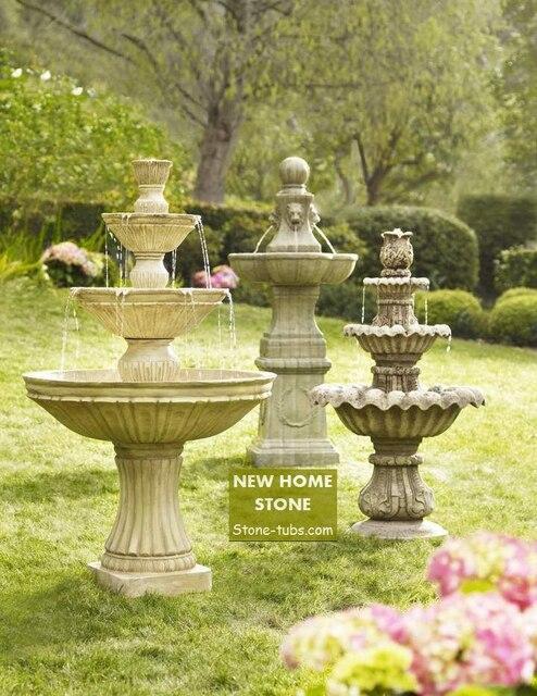 Peque o caracter stica del agua 2015 modern mini piedra - Fuentes para jardin pequeno ...