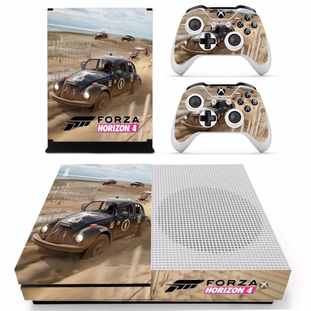 Gioco Forza 4 Orizzonte Della Decalcomania Autoadesivo Della Pelle Per Xbox One Console Sottile e 2 Pelli di Controller Per Xbox One S adesivi In Vinile