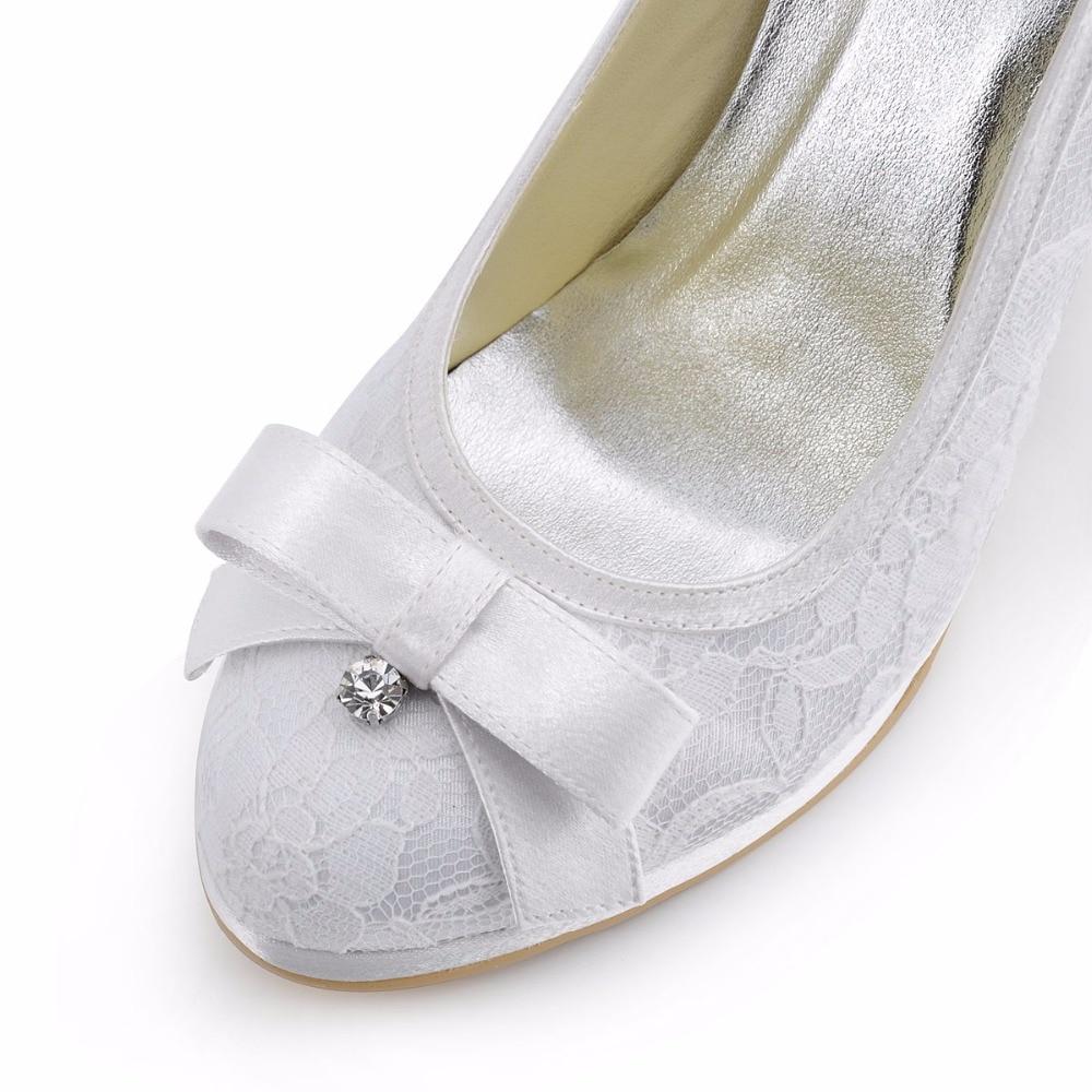 Arco red pf 003 Redonda Diamante Satén white Del Altos Tacones Boda Blanco Señora Mujeres Rojo Zapatos Encaje Ivory Plataforma Marfil Punta Mujer Nupcial Bombas El gtwxqO4