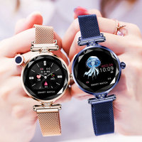 H1 HD color screen 2019 gold watch woman sports smart watches ladies multifunction waterproof watch female heart rate monitoring