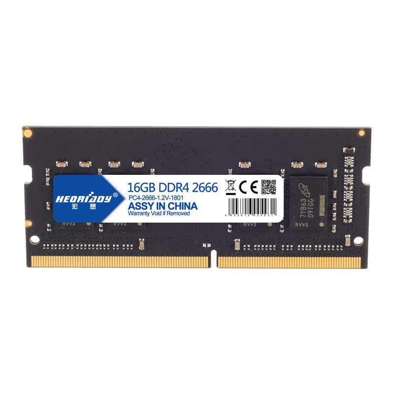 حاسوب محمول DDR4 16GB RAMS 2666MHz خيارات متعددة 8GB 4GB 2400MHz 2133MHz ذاكرة ddr 4 260Pin 1.2v