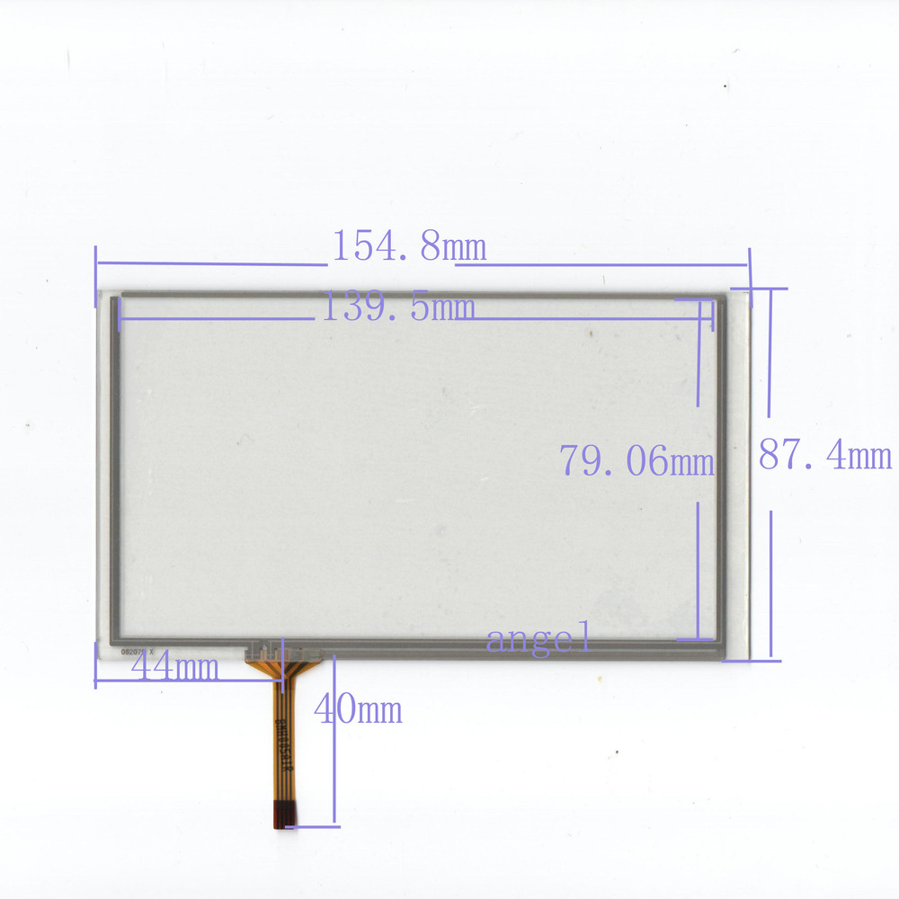6.2-inch four-wire resistive touch screen resistive touch screen 155 * 87 GPS navigation ...