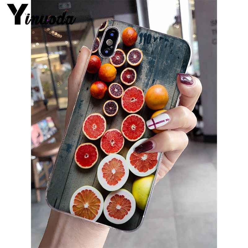 Funda de teléfono de TPU transparente con fruta fresca de verano Yinuoda para Apple iPhone 8 7 6 6S Plus X XS MAX 5 5S SE XR, fundas para móviles