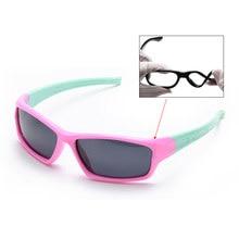 1c0dfef9a4122 Crianças Dobráveis Óculos De Titânio Polarizado TR90 Segurança Silicone  Flexível Crianças Óculos de Sol Meninas Meninos Rosa Inf..