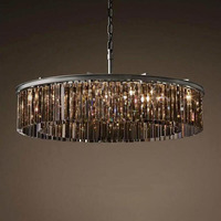 American Style Chandelier Round Shape Crystal Chandelier Lighting Luminaires Hanging Light for Restaurant Crystal Style Lamp