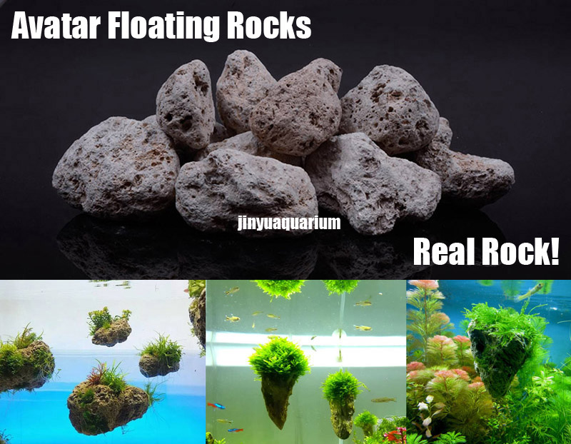 Floating rocks avatar aquarium water plant fish tank for How to clean fish tank rocks