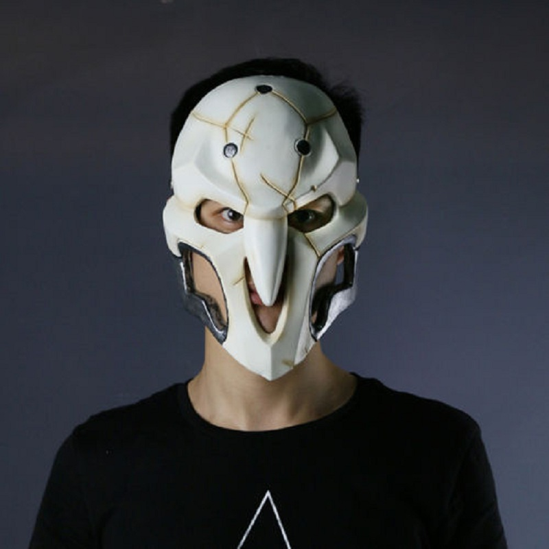2016 Over watch Game Mask Cosplay Reaper Mask Helmet Halloween Reaper Party Mask (9)
