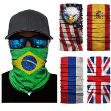 цена на National Flag Magic Scarf Men Cycling Seamless Balaclava Head Scarves Outdoor Sports Headband Neck Warmer Bandanas Face Mesh