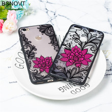 For Xiaomi Redmi Note 5A Case TPU+PC Lace Rose Flower Pro Cover Funda