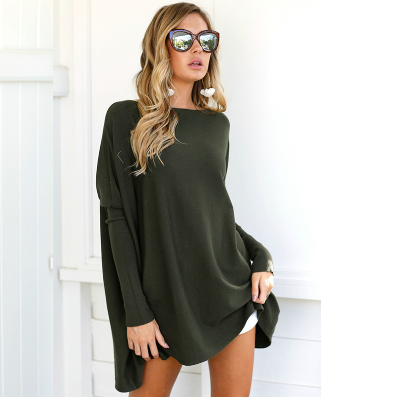 Autumn winter Casual Sexy long Sleeve Mini Dress Black