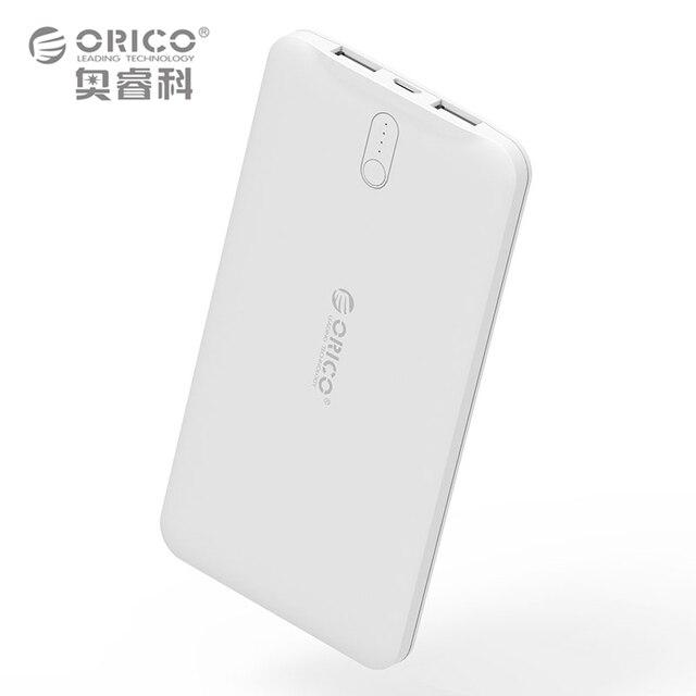 ORICO 5000 мАч оригинальный Мощность банк Портативный Батарея мобильный литий-полимерная банка со светодиодным индикатором для Мобильные телефоны