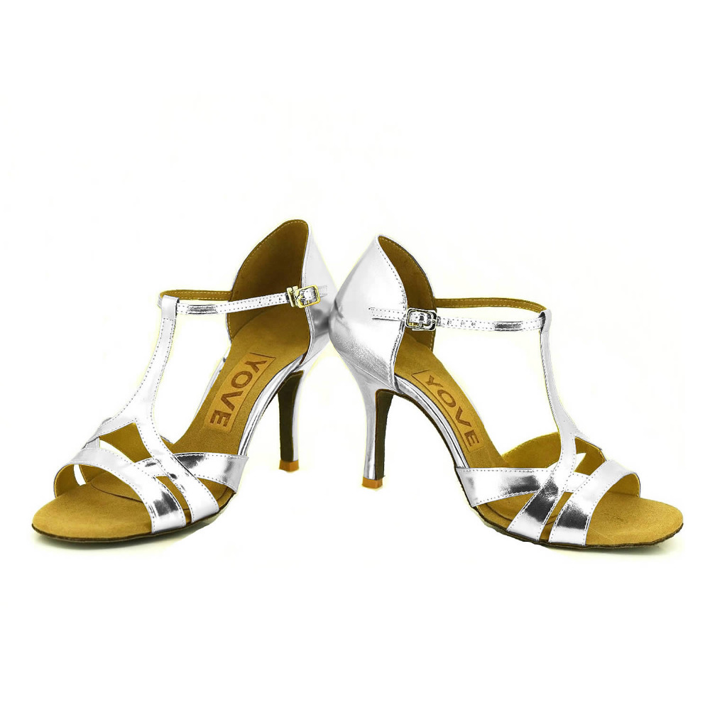 YOVE Dance font b Shoe b font Sequined Cloth Women s Latin font b Salsa b