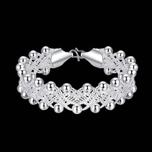 Wholesale! Trend 925 Sterling Silver Jewellery Bracelet,925 Silver Bracelet Designed For Girls Bracelet With Beads AH402