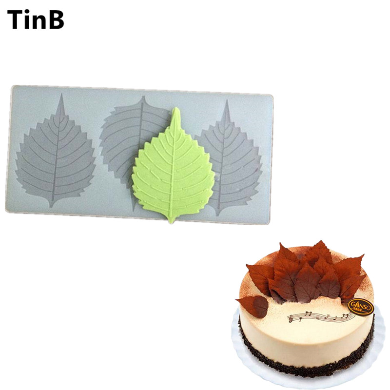 DIY 3D Frunze forma Silicon Chocolate Mold Bakeware tort de nunta Cookie unelte de decorare Ciocolata Mold Stencil Muffin Pan