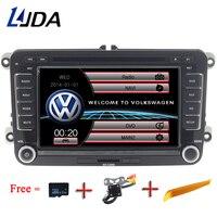 LJDA 2 Din 7 Inch Car DVD Player for VW Golf 6 Golf 5 Passat b7 cc b6 SEAT leon Tiguan Skoda Octavia Multimedia GPS Radio Canbus