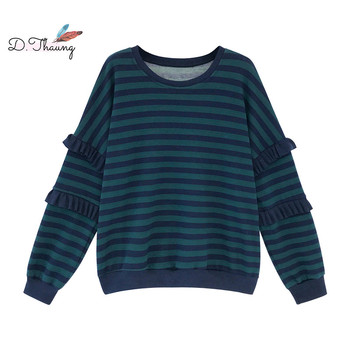 Summer Women Sweater 2019 Large Size Loose Long-Sleeved Sweater Ladies Pullover Tops Was Thin Striped Female Sweater Cw632 фото