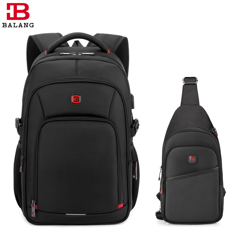 BaLang Laptop Backpack for 15.6 inch Charging USB Port Computer Backpacks Waterproof Man Business  Travel  Bag SetBaLang Laptop Backpack for 15.6 inch Charging USB Port Computer Backpacks Waterproof Man Business  Travel  Bag Set