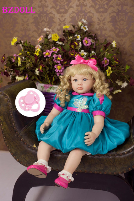 60cm Silicone Vinyl Reborn Baby Doll Lifelike Toddler Baby Doll Toddler Girls Brinquedos Birthday Gift Play