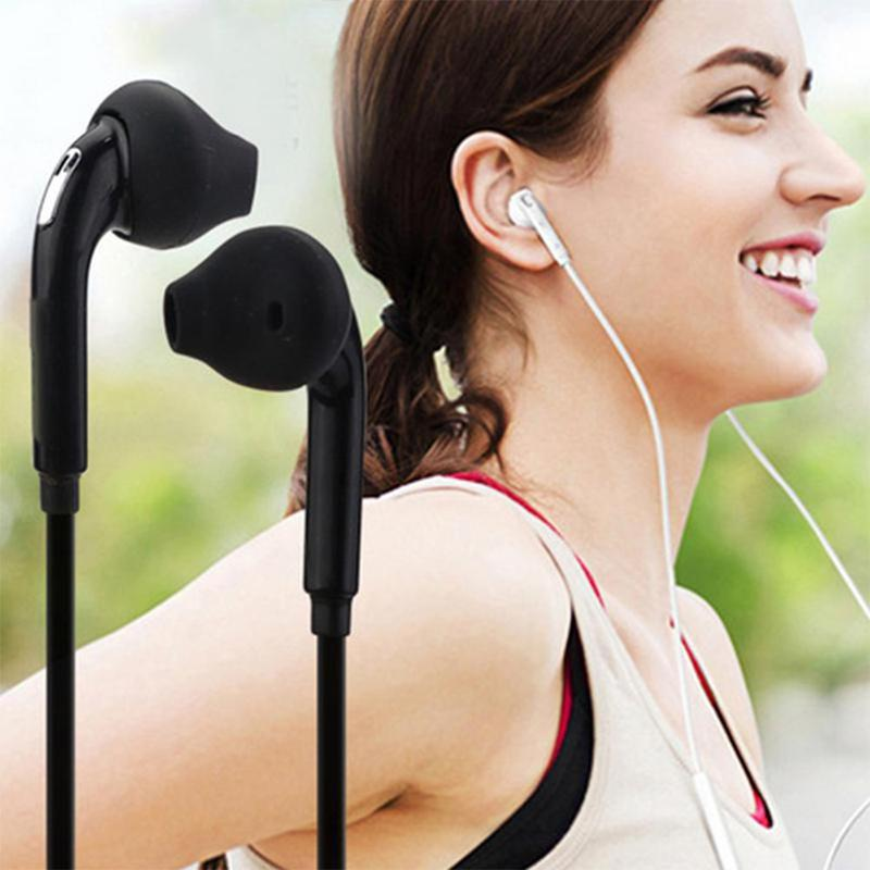 For Samsung <font><b>S6</b></font>/ <font><b>S6</b></font> Edge 3.5mm Stereo Music Earphones Portable Earphone Wired In-ear Headset No <font><b>Bluetooth</b></font> With Microphone image