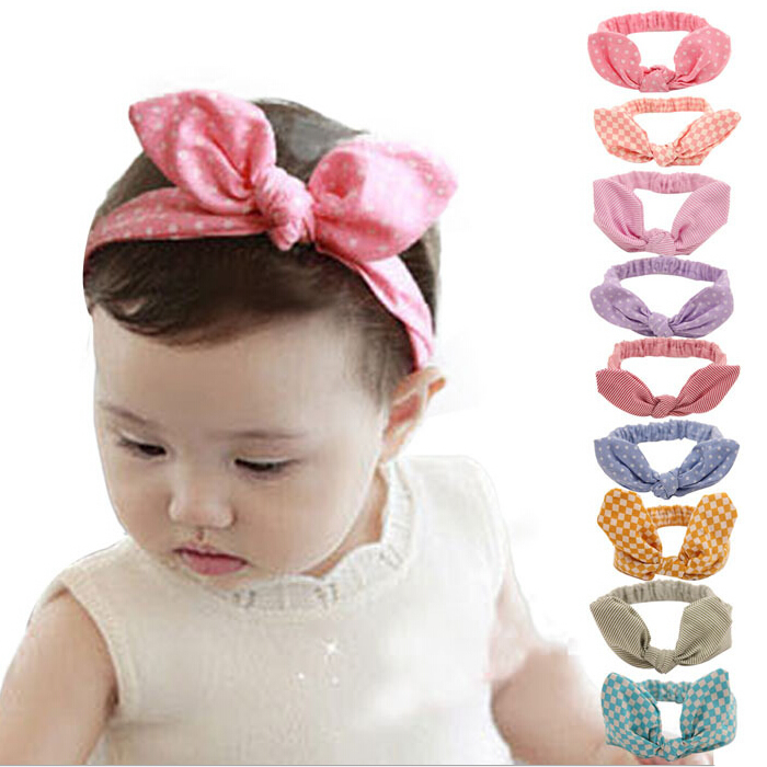 baby girl headband hair accessories clothes band bows newborn   Headwear   tiara headwrap hairband Infant Gift Toddlers rabbit ear