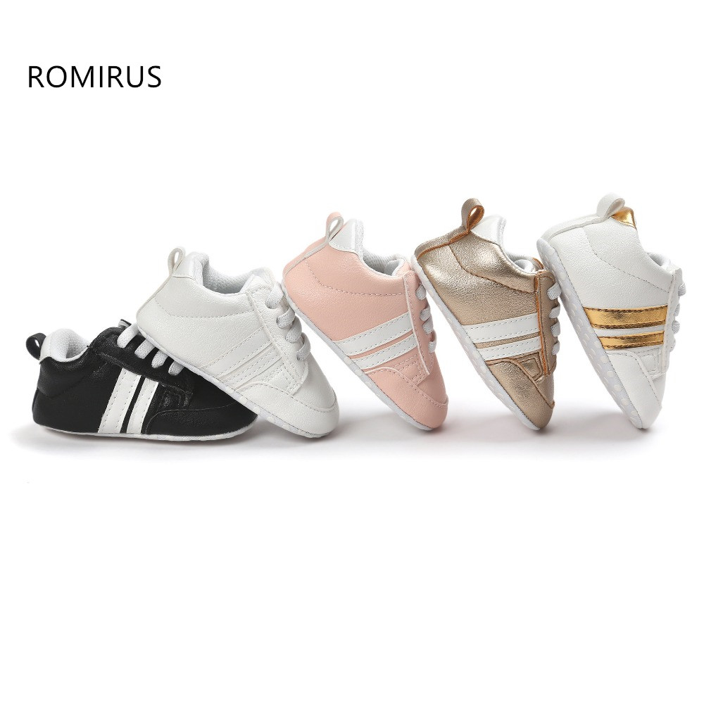 Hot Romirus 8 colors New Autumn baby moccasins infant anti-slip PU Leather first walker soft soled Newborn 0-1 years Baby shoes