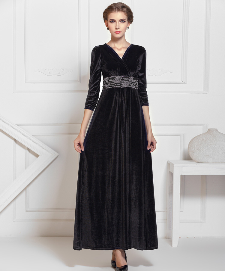 Compare Prices on Long Velvet Dress- Online Shopping/Buy Low Price ...