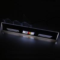 SNCN LED Car Scuff Plate Trim Pedal Door Sill Pathway Moving Welcome Light For Mitsubishi Lancer EX Ralliart Accessories