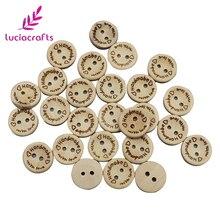 Lucia crafts 2 отверстия ручной работы с любовь круглые деревянные пуговицы скрапбук шитье DIY натуральная пуговица аксессуары для одежды E0110