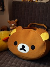 2017 New arrival Rilakkuma Cute Big Bag Handbag Shoulder Plush Relax Brown Bear 5pcs/package+free gift