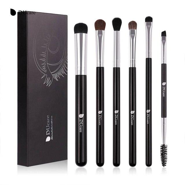 Ducare 6pcs Eyeshadow Makeup Brushes Set Pro Black Eye Shadow