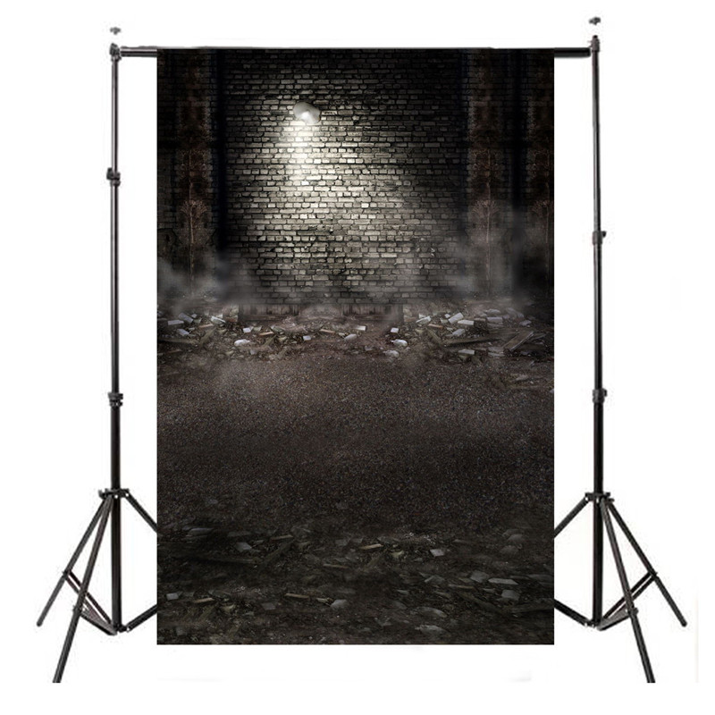 3x5FT Ruins Printing brick wall Photography Backdrops photo Studio Props Vinyl Photography background cloth 90 x 150cm dark brown brick wall with white clock photography backdrops wedding background 200x300cm photo studio props fotografia
