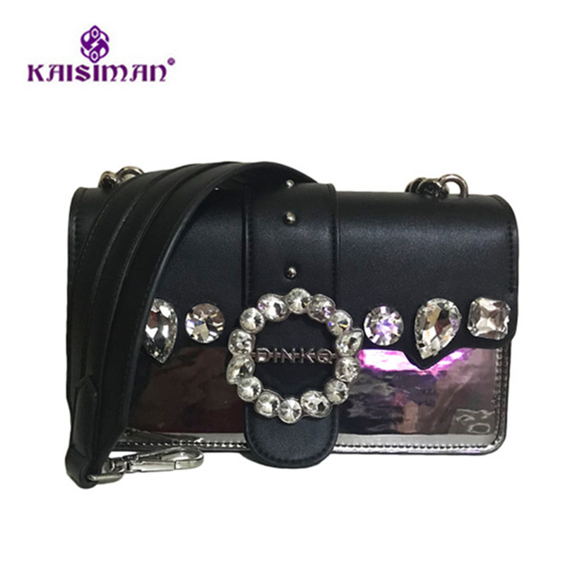 Charming Luxury Designer Clutch Lady Lock Messenger Bags Famous Brand Women Leather Handbag Fancy Diamond Gem Chain Shoulder Bag 2018 luxury brand fashion velvet women shoulder bag lady chain messenger crossbody bags famous designer lock handbag black green