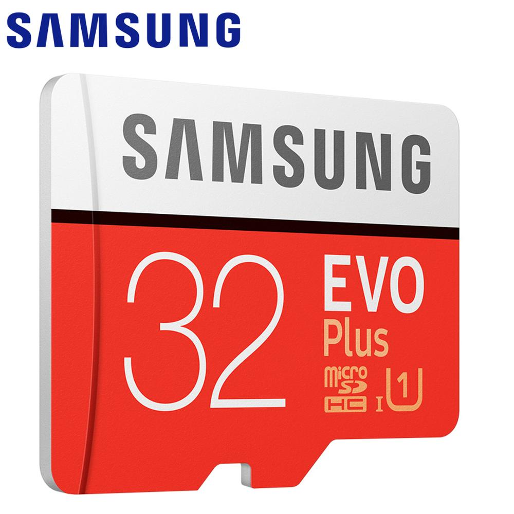 SAMSUNG New Micro SD Memory Card EVO Plus+ 128GB 64GB 32GB 100MB/s C10 SDHC SDXC U1 U3 TF Card 64 G 32G Cards 100% Original