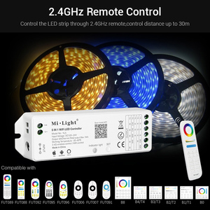 Image 3 - 5 IN 1 WiFi LED Smart Controllerสำหรับเดี่ยวสีRGB + CCT RGB RGBW LED Strip Amazon Alexa Voiceโทรศัพท์Appรีโมทคอนโทรล12 24V