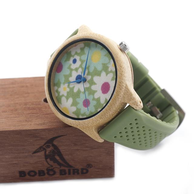 Wooden  Silicon Quartz Wristwatches