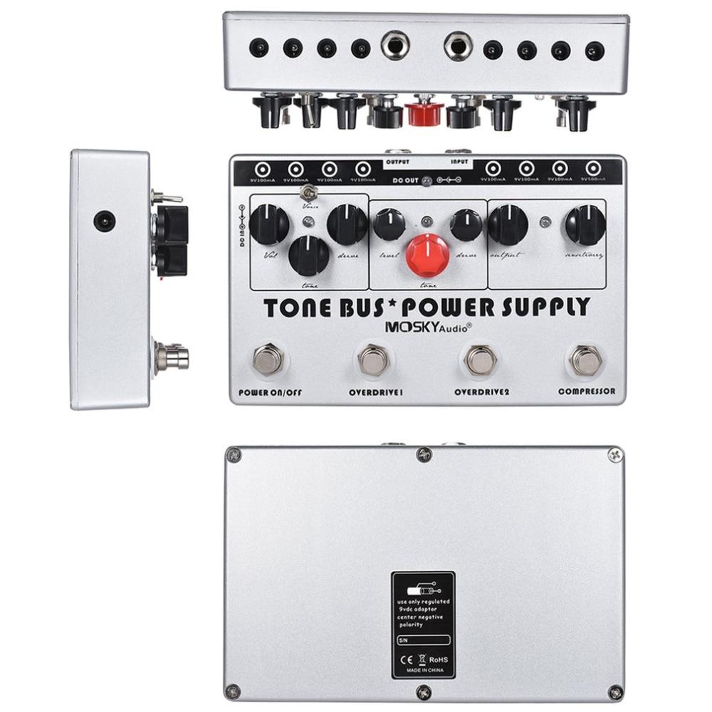 electric guitar pedal combined 3 effects compressor tube overdrive ultimate overdrive guitar. Black Bedroom Furniture Sets. Home Design Ideas