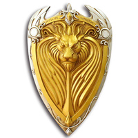 [Funny] 1:1 Scale 61cm simulation WOW King Llane Lion Shield resin weapons model adult children cosplay toys collection gift
